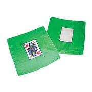 Mini card silk - Cm 20 x 20 - regina di cuori e carta bianca