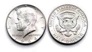 Mezzo dollaro d\'argento del 1964 Kennedy