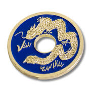 Moneta cinese blu