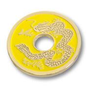 Moneta cinese gialla