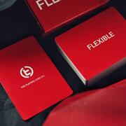 Flexible playing cards  Red