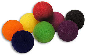 Palline di spugna 3,8 cm colori fluo