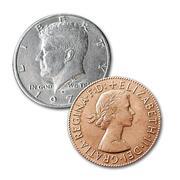 Copper and silver Moneta doppia faccia