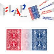 Modern flap card by hondo  dorso rosso in dorso blu