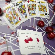 Cherry Casino  (Desert Inn Purple) Playing Cards