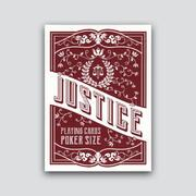 Justice Red Playing Cards