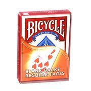 Bicycle dorso bianco faccia regolare