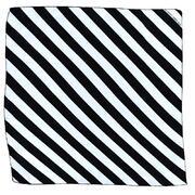 Foulard a strisce bianco e nero cm 60x60
