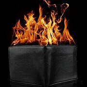 Portafogli in fiamme