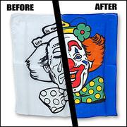 Set Foulard Clown triste felice