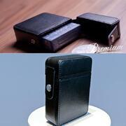 Maze Leather Card Case Black