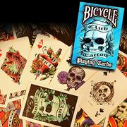 Bicycle Club Tattoo Blue