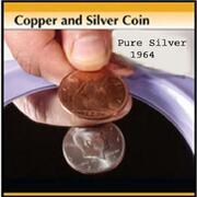 Copper and silver mezzo dollaro 1964 penny inglese