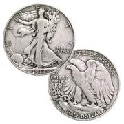 Mezzo dollaro d\'argento Walking Liberty