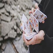 Fluid Art Orange (Cardistry Edition) Playing Cards
